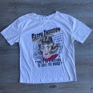 ZARA | Earth Invasion T-Shirt